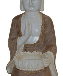 Boeddha beeld vrede met waxinelichthouder Boeddhabeeld