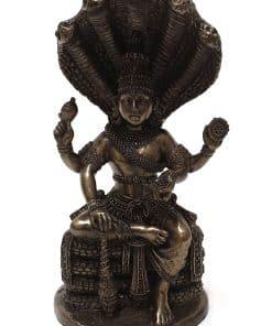 Buddha beeld Vishnu 13 cm voor binnen en buiten – Boeddhabeeld met bronzen toplaag – GerichteKeuze