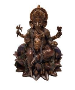 Ganesha Beeld Brons 21 cm
