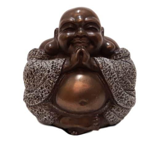 Happy Boeddha Brons Beeldje 9 cm Boeddhabeeld