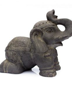 Olifant beeld Donkergrijs | Tuin olifant beeld 41 cm