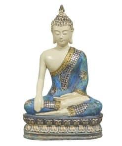 Thaise Boeddha blauw 32cm